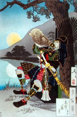 Ночь перед сражением при Сидзугатакэ, в котором Хидэёси одержал первую большую победу на посту правителя